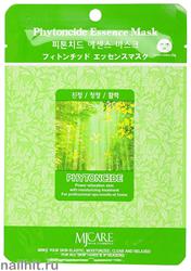 13595 Mijin Маска тканевая для лица с фитонцидами 23гр заживляющая, увлажняющая и питательная