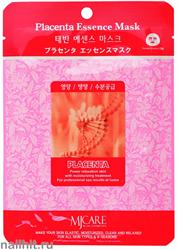 11465 Mijin Маска тканевая для лица с экстрактом плаценты 23гр омолаживающая