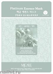 11464 Mijin Маска тканевая для лица с ионизированной платиной 23гр очищающая
