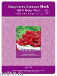 13590 Mijin Маска тканевая для лица с экстрактом малины 23гр тонизирующая