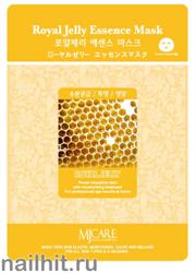 11457 Mijin Маска тканевая для лица с пчелиным маточным молочком 23гр питательная