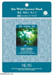 11458 Mijin Маска тканевая для лица с экстрактом водорослей 23гр лифтинг-маска