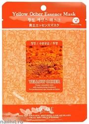 11463 Mijin Маска тканевая для лица с экстрактом охры 23гр очищающая