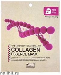13584 Mijin Маска тканевая для лица с коллагеном 25гр повышение эластичности