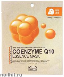 11434 Mijin Маска тканевая для лица с коэнзимом Q10 25гр интенсивно питает кожу