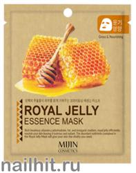 11436 Mijin Маска тканевая для лица с пчелиным маточным молочком 25гр насыщает кожу комплексом витаминов