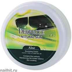 9160 Deoproce 0727 Крем для лица и тела на основе экстракта сока алое 100мл увлажнение и питание
