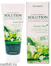 9106 Deoproce 9614 Пенка для умывания лица с экстрактом зелёного чая 170мл эффективно очищает