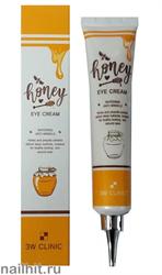 16195 3W Clinic 6240 Крем для кожи вокруг глаз питательный с экстрактом меда и прополиса 40мл