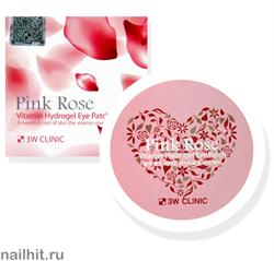 16162 3W Clinic 3959 Патчи гидрогелевые для век с экстрактом французской розы 60шт