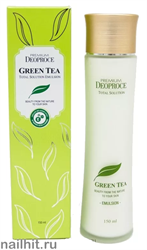 9151 Deoproce 2241 Эмульсия увлажняющая с экстрактом зеленого чая 150мл увлажняет и витаминизирует кожу