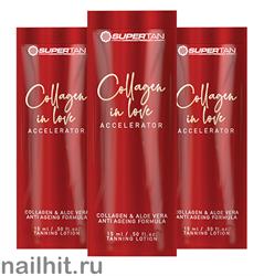 16680 SuperTan Крем-гель ускоритель для загара Омолаживающий 15мл Collagen in love