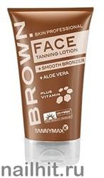 16659 Tannymaxx 2445 Крем для загара лица 50мл с мягким бронзатором Brown Face Tanning+ Smooth Bronzer