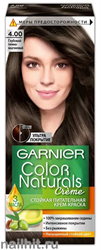 Garnier Краска для волос Колор Нэчралс 4.00 Глубокий темно- каштановый