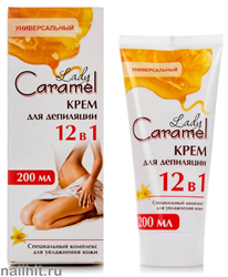 34018 ЭЛЬФА Caramel Lady Крем для депиляции 12в1 200мл