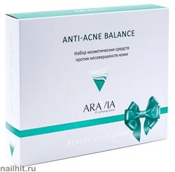 14051 Aravia Набор 9302 против несовершенств кожи лица Anti-Acne Balance (гель д/умыв+ маска+ тонер)