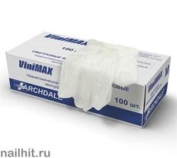 Перчатки VINYL НЕОПУДРЕННЫЕ Виниловые 100шт (Размер S)