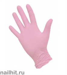 Перчатки Нитриловые Неопудренные Розовые 100шт (Размер M)