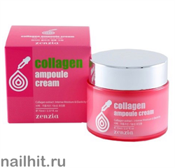 15625 Jigott 0386 Ампульный крем для лица с коллагеном 70мл zenzia collagen ampoule cream