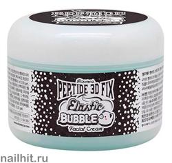 15523 Elizavecca Крем для лица 0062 кислородный с комплексом из четырех пептидов 100мл Peptide 3D Fix Elastic Bubble Facial Cream