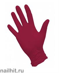 Перчатки Нитриловые Неопудренные Красные 100шт (Размер M)