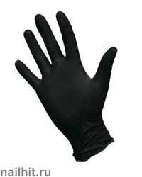 Перчатки Нитриловые Неопудренные Черные 100шт (Размер L)